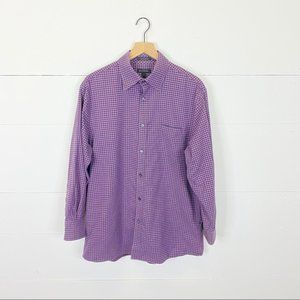 John W. Nordstrom Purple Gingham Button Down